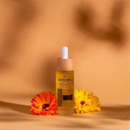 huile de soin bio apaisante pour peaux sensibles et peaux jeunes