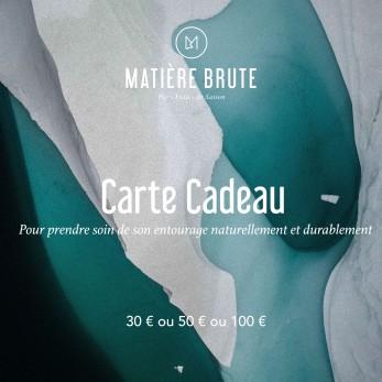 La carte cadeau Matière Brute
