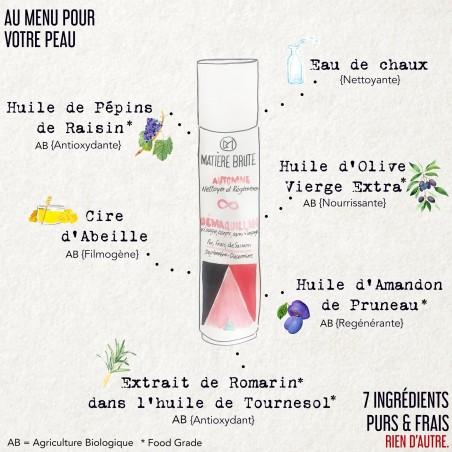 Composition du Nettoyant et Démaquillant Automne 50 ml